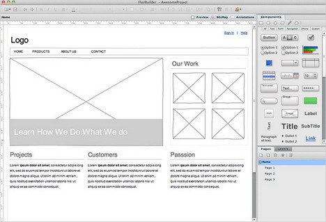 flairbuilder_best_wireframing_prototyping_mockup_tools_for_web_design_planning