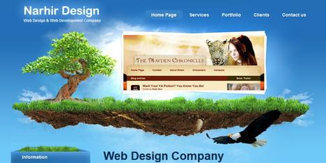 narhir_design_best_creative_impressive_website_header_designs