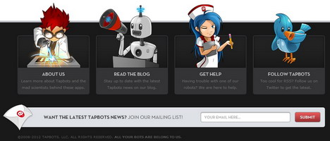 pastebot_best_creative_beautiful_website_blog_footers