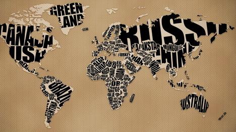 typographic_world_map