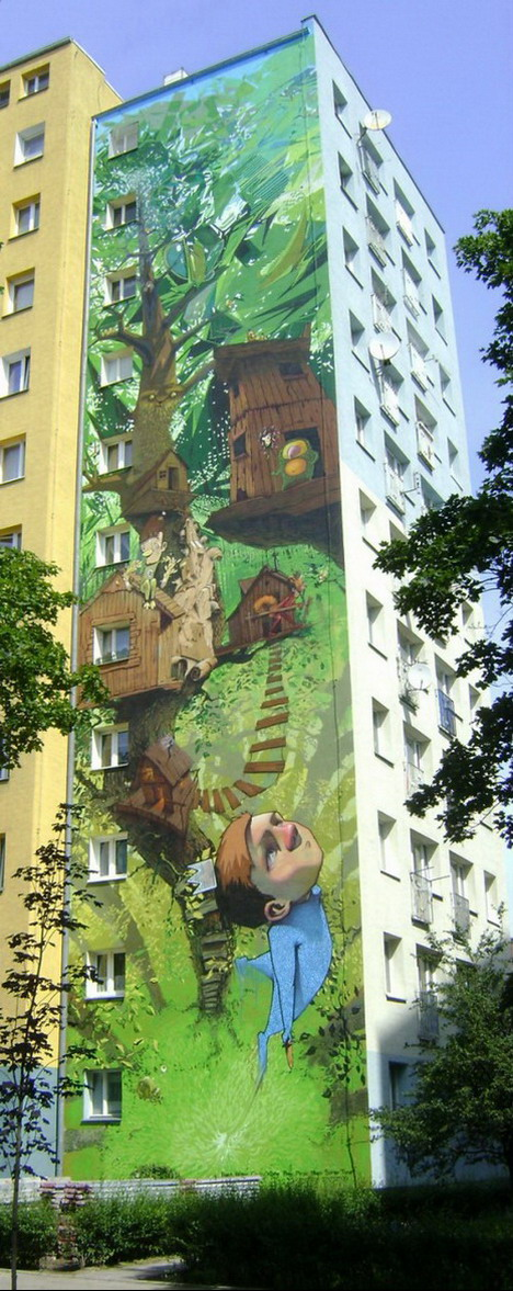 40 extremely amazing graffiti artworks wall paintings for Common threads mural