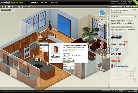 10 best free interior design online tools and software quertime for Home architect design software free download