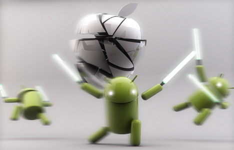 3_androids_fighting_with_apple