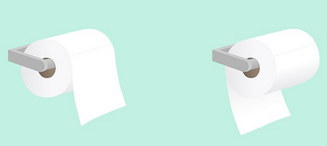which way the toilet paper faces