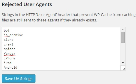 wp-super-cache-rejected-user-agents
