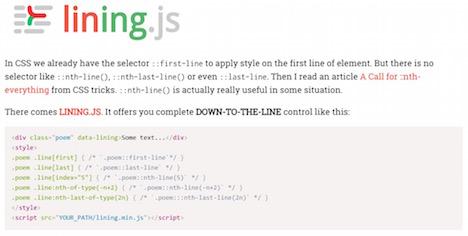 css-selector-lining-js