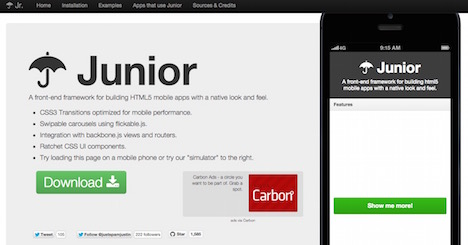 junior-framework-to-build-html5-mobile-apps