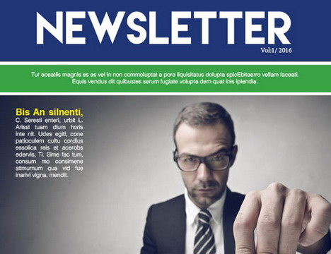 Business Newsletter Template Free Download  Business Newsletter Templates Free Download