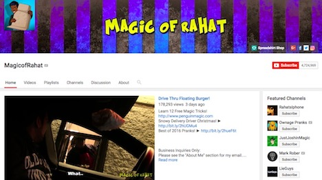 magicofrahat-youtube-prankster-channel