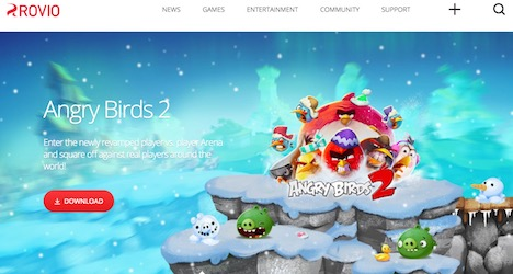 rovio-gaming-web-design