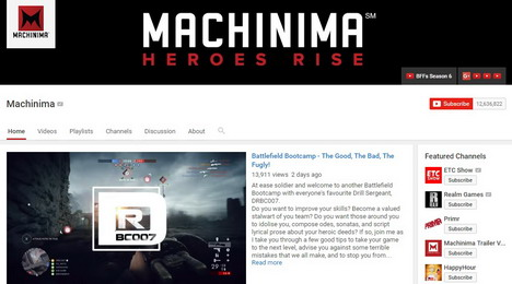machinima-game-youtube-channel