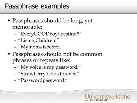 passphrase
