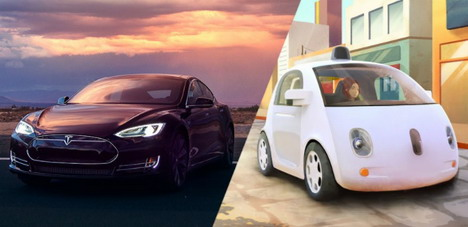 google-self-driving-car-vs-tesla-autopilot-system