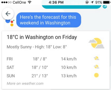 google-allo-weather