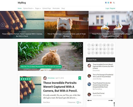 wordpress-theme-myblog