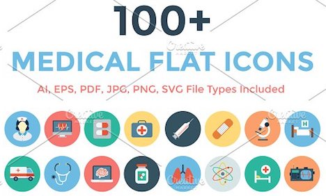 100-medical-flat-icons