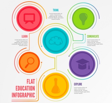 flat-education-infographics