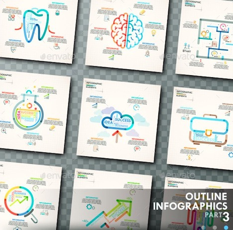 outline-infographics