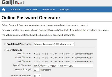 gaijin-online-password-generator