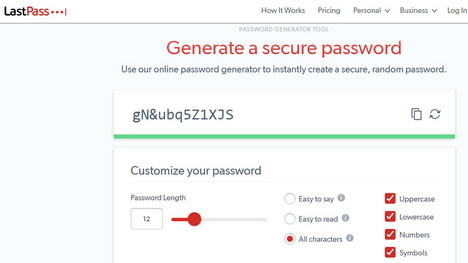 lastpass-generate-secure-password